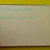 Orthogonal Vectors