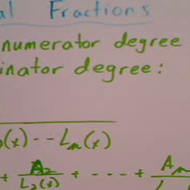 Partial Fraction Decomposition