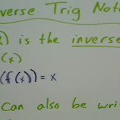 Inverse Function Notation