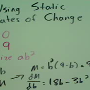 Using Static Rates of Change