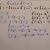 Determining if a Function is Even or Odd