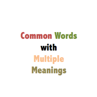 Common Words with Multiple Meanings