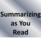Summarizing as you Read