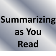 Summarizing as you Read