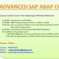 SAP ABAP ON HANA ONLINE TRAINING Tutorial | Sophia Learning