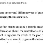 Creating a Graphic Organizer