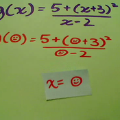 Evaluating a Function for a Variable