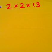 Prime Factorization Exponential Notation