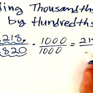 Dividing Thousandths by Hundredths