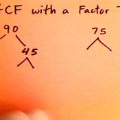 Finding the GCF with a Factor Tree