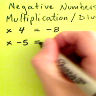 Negative Multiplication and Division