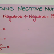 Dividing Negative Numbers