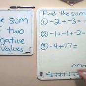 Adding Negative Numbers
