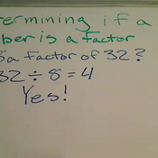 Determining if a Number is a Factor