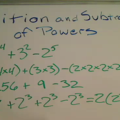 Addition and Subtraction of Powers