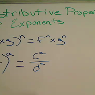 Distributive Property of Exponents