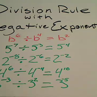 Division Rule with Negative Exponents