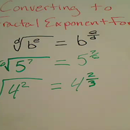 Converting to Fractional Exponent Form