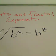 Roots and Fractional Exponents