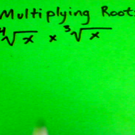 Multiplying Roots