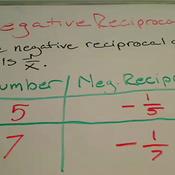 Negative Reciprocals