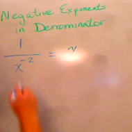Negative Exponents in the Denominator