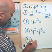 Rewriting Negative Exponents