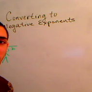 Converting to Negative Exponents