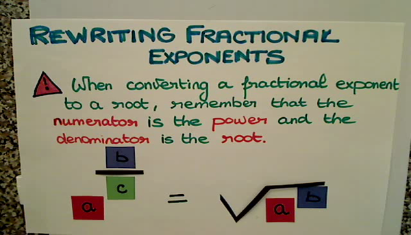 Rewriting Fractional Exponents