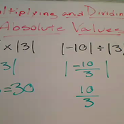 Multiplying and Dividing Absolute Values