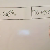 Adding Whole Numbers and Percentages