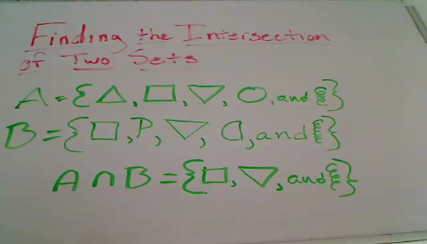 Finding the Intersection of Sets