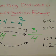 Converting Between Fraction and Colon Format