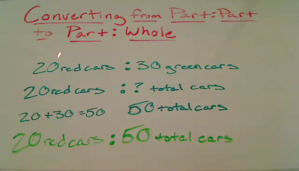 Converting from Part to Part to Part to Whole