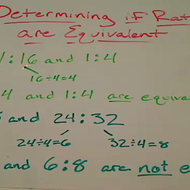 Identifying Equal Ratios