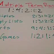 Multiple Term Ratios