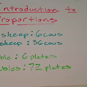 Introduction to Proportions