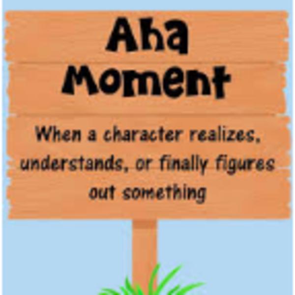 Aha! Moment Sign Post