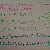 Finding Distinct Elements of Sets