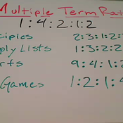 Multiple Term Ratios