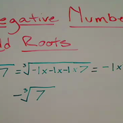 Taking Odd Roots of Negative Numbers