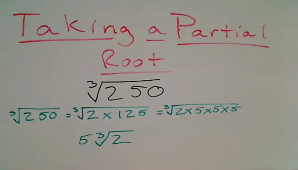Taking a Partial Root