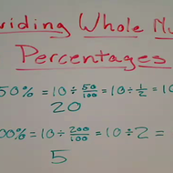 Dividing Whole Numbers by Percentages