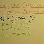 Taking the Absolute Value of an Operation