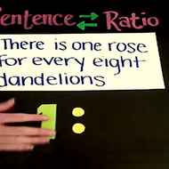 Writing a Ratio from a Sentence