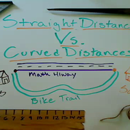 Straight and Curved Distances