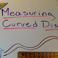 Measuring A Curved Distance