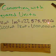 Conversion of Square Units