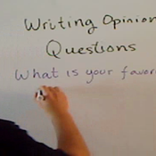 Writing Opinion Questions