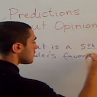 Making Predictions about Opinions
